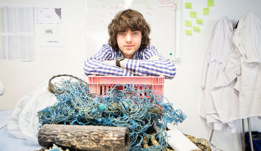 The Ocean Cleanup's 24 year old founder and CEO, Boyan Slat. Image: The Ocean Cleanup, CC BY-NC-SA