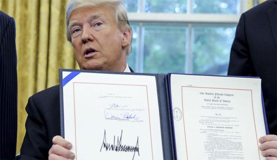 Donald Trump Save Our Seas Act