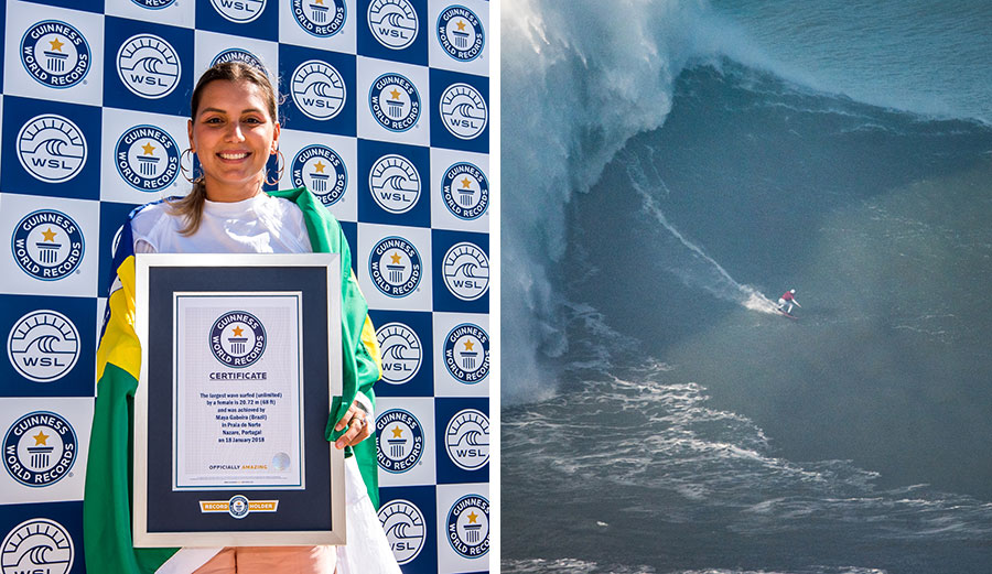 Maya Gabeira finally won a Guinness World Record for the biggest wave ever surfed by a woman.