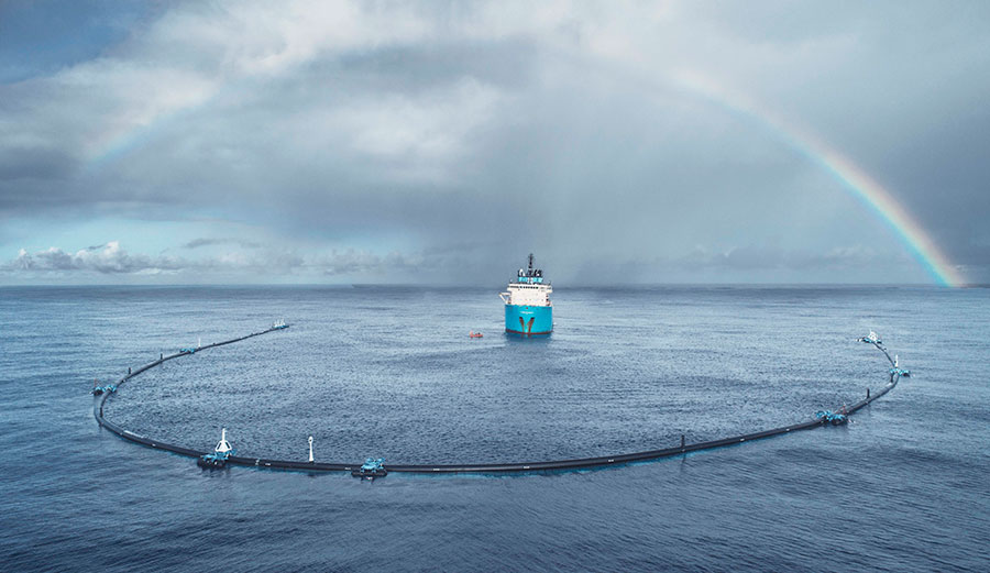 The Ocean Cleanup boyan slat great pacific garbage patch