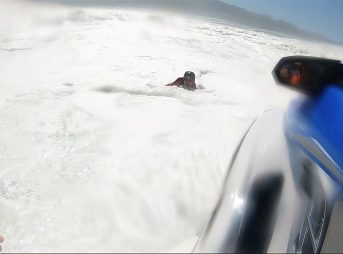 South Africa big wave surfing wipeout rescue