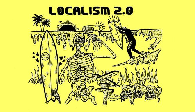 Localism in Surfing Cartoon