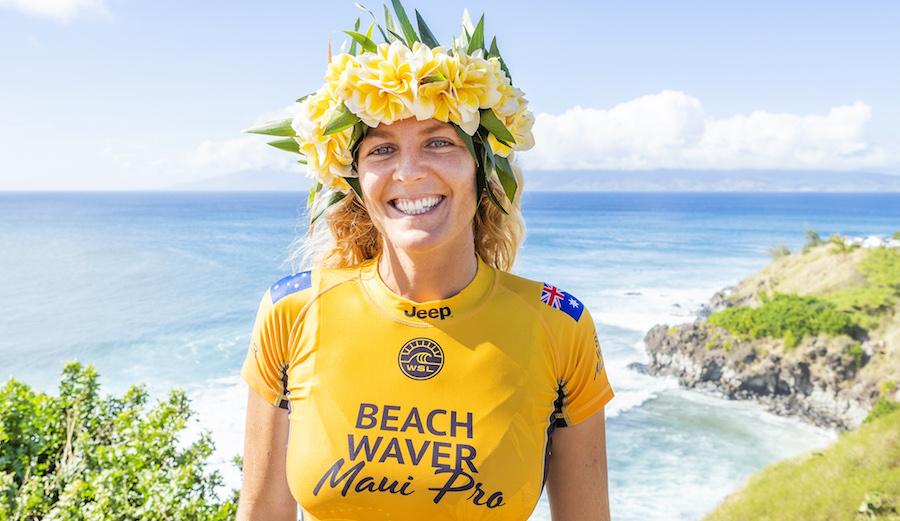 Stephanie Gilmore (AUS) won her seventh World Title at the 2018 Beachwaver Maui Pro in Honolua Bay, Maui, Hawaii, USA.