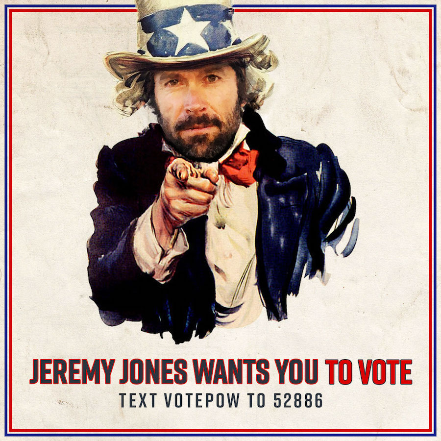 Jeremy Jones is calling on all Americans to get out and vote on Tuesday. Photo: Protect Our Winters Action Fund