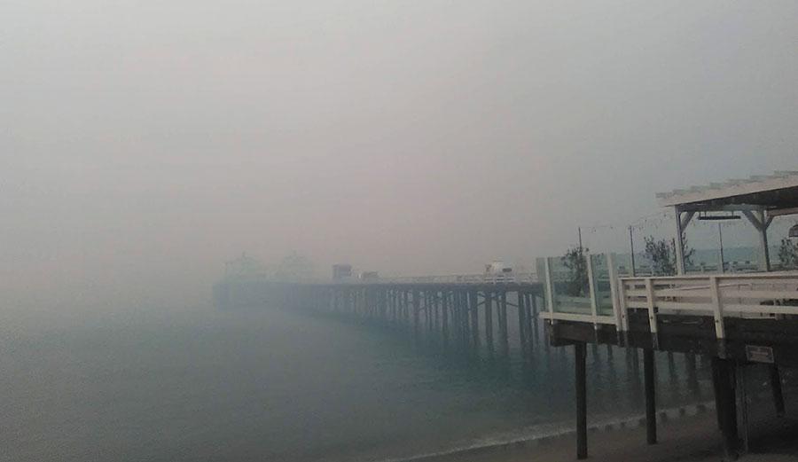 Malibu Pier Woolsey Fire