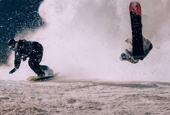 Snowsurfing Japan is made beautiful in the film Slice 'n' Dice.