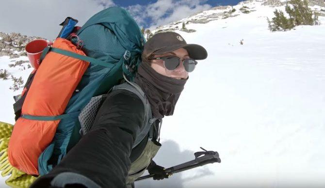 Elena Hight exploring the Sierra with Jeremy Jones in 'Ode to Muir.'