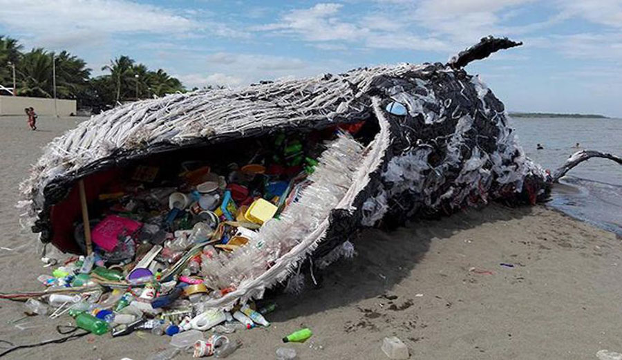 Greenpeace whale installation