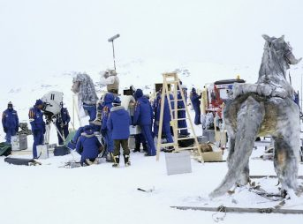 The cast and crew behind Empire Strikes Back sport the original parkas. Photo: Lucasfilm Ltd.