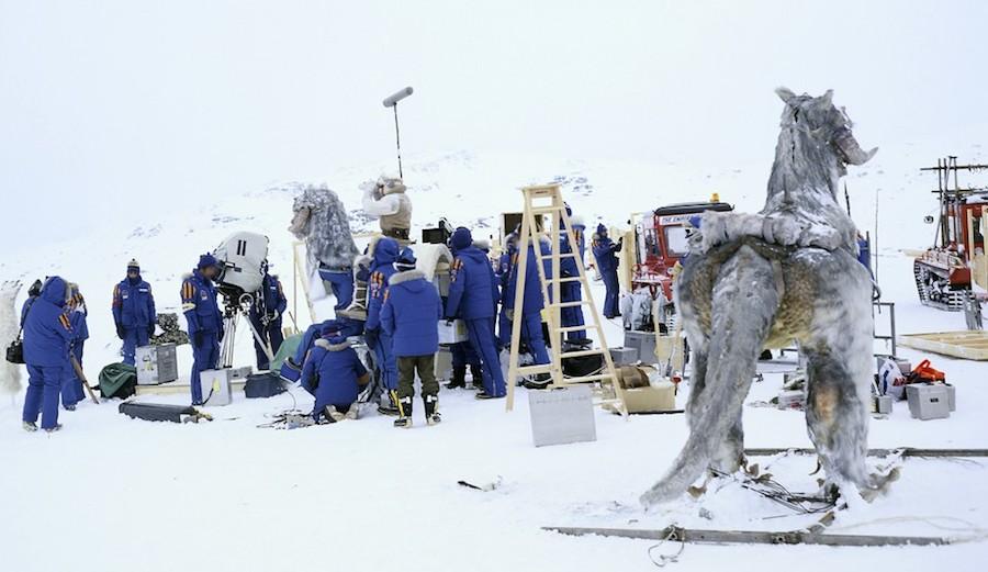 The cast and crew behind Empire Strikes Back sport the original parkas. Photo: Lucasfilm Ltd.
