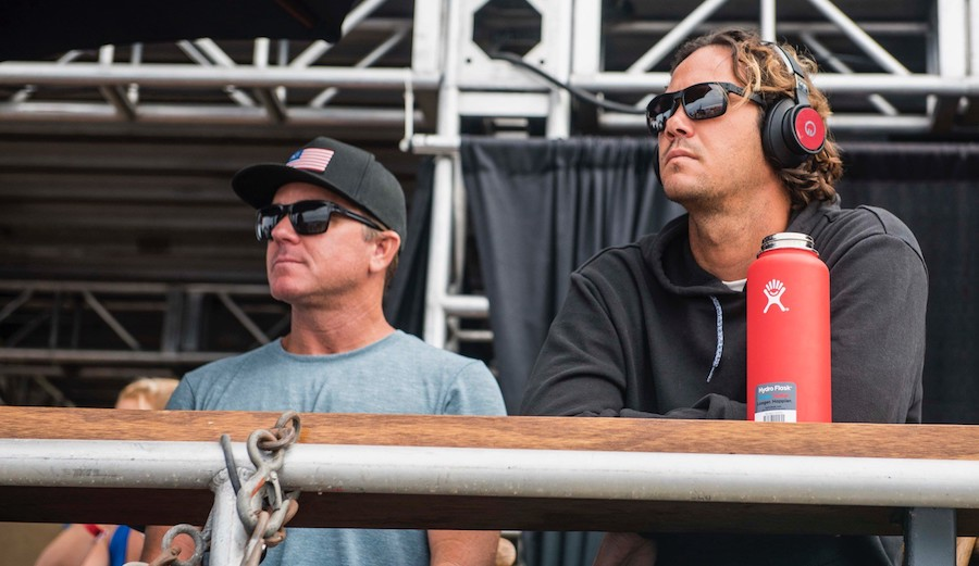Chris Gallagher Stone has a history of coaching the world's best surfers including, most recently, Jordy Smith. Photo: WSL