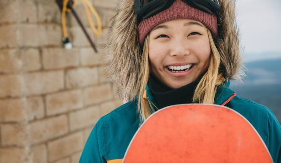 Chloe Kim, professional snowboarder.