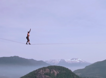 In 2015, Canadian slackliner Spencer Seabrooke set a new record for free solo highlining – a form of slacklining with no harnesses or ropes to catch you if you fall.
