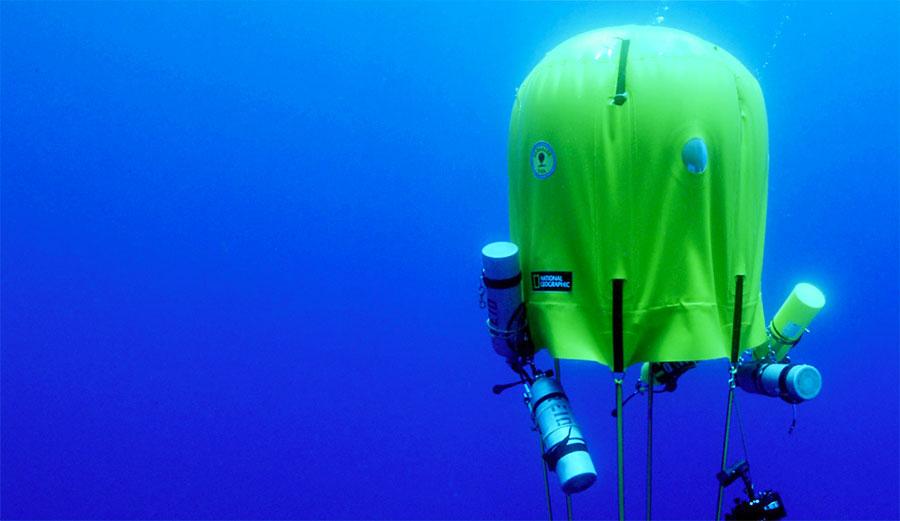 Ocean Space Habitat under the water