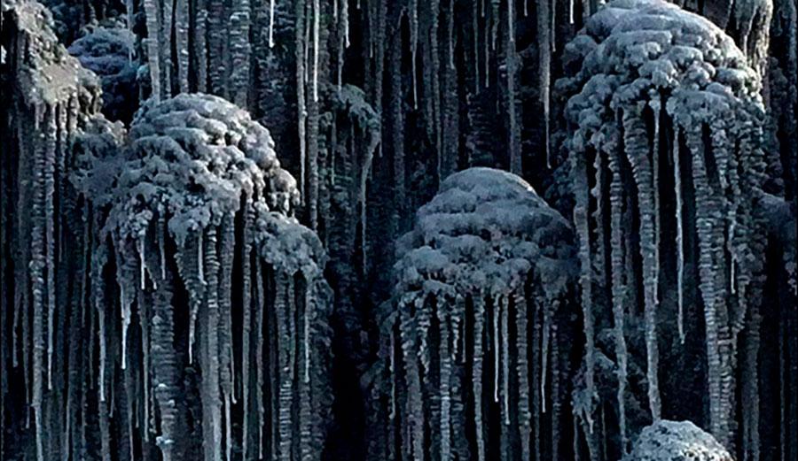 Black snow in Siberia