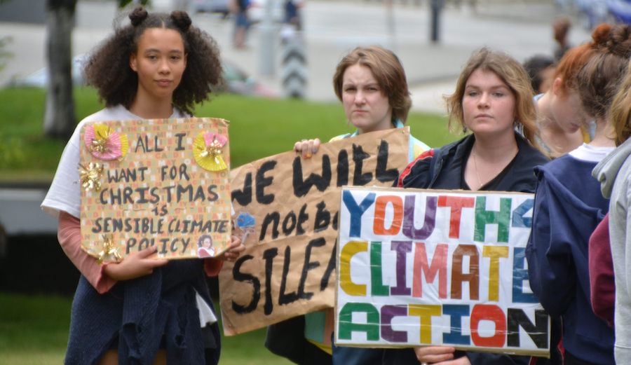 Kids protesting climate change