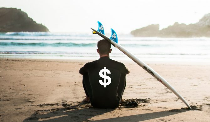 So...what's the true cost of being a surfer for a year? Photo by Sebastián León Prado on Unsplash