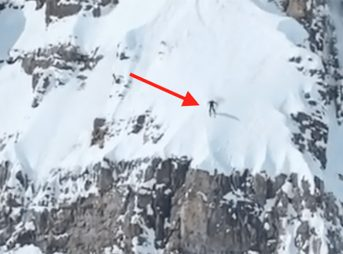 BASE jumping from Cody Peak in Jackson Hole