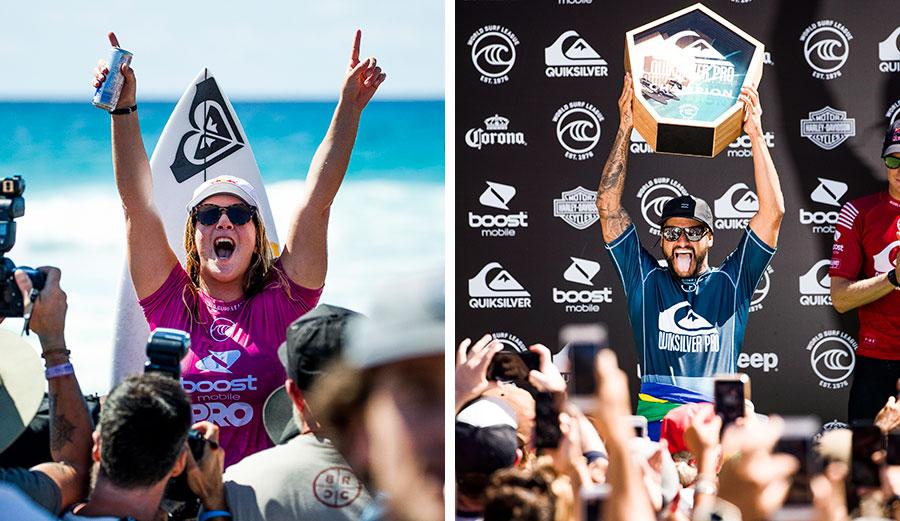 Caroline Marks and Italo Ferreira won on the Gold Coast.
