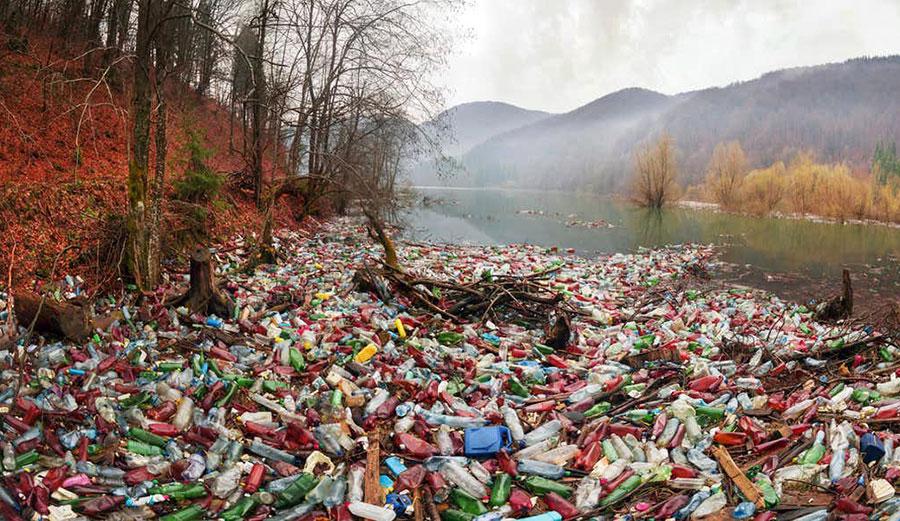 Garbage in waterways