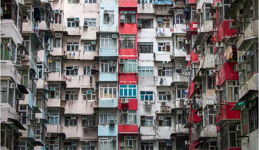 Crowded Hong Kong living