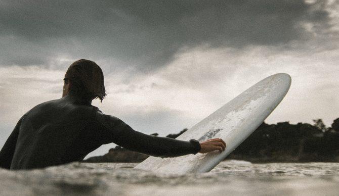 Paddling Surfer