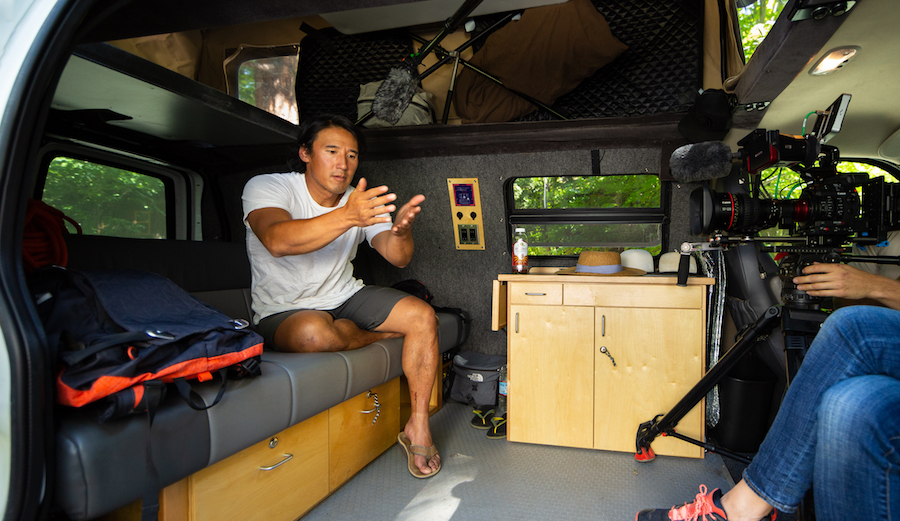 Jimmy Chin in his 2012 Chevy Express