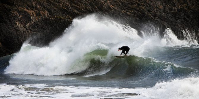 Surfing Pembrokeshire, Wales