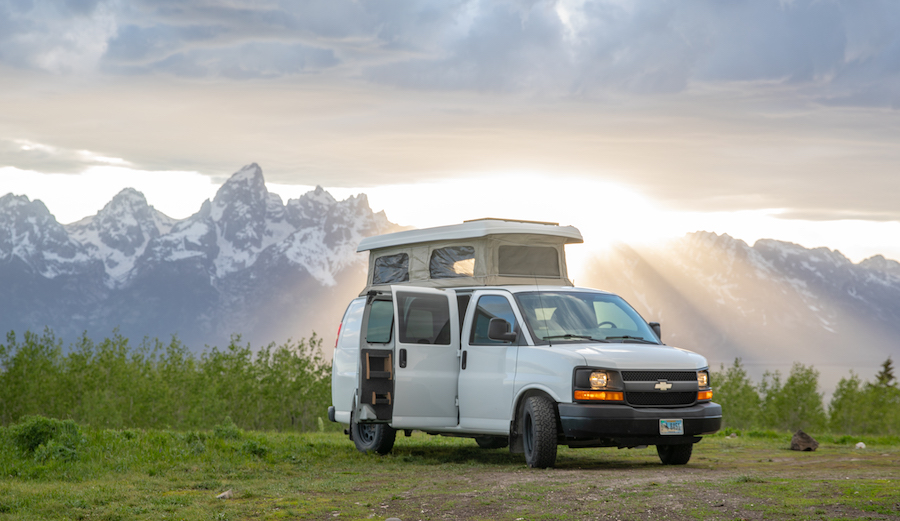 Jimmy Chin's 2012 Chevy Express