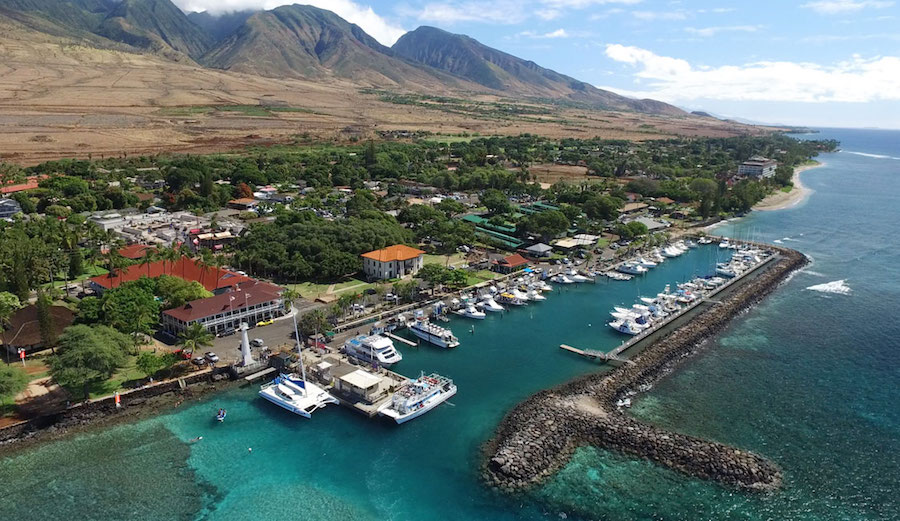 View of Lahaina Town and Harbor