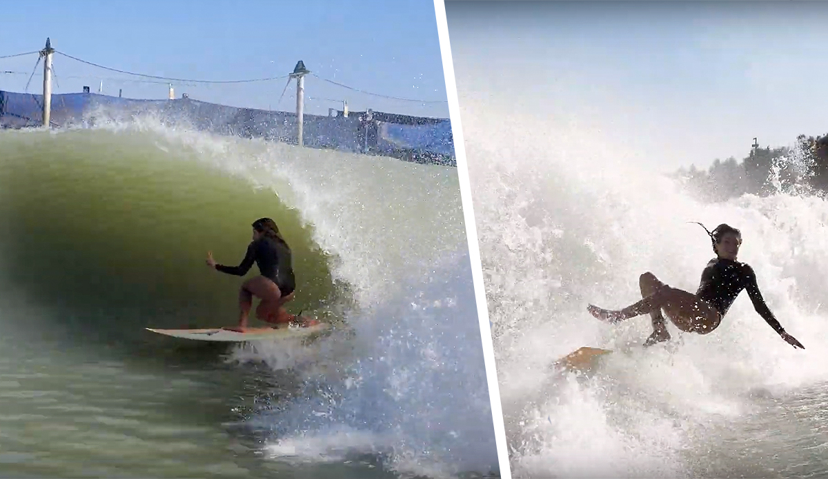 Anastasia Ashley Gives a Technical Look at What to Do (and Not Do) on a Surf Ranch Wave