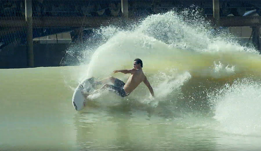 Jordy Smith Attempted to Empty the Surf Ranch by Throwing Giant Buckets