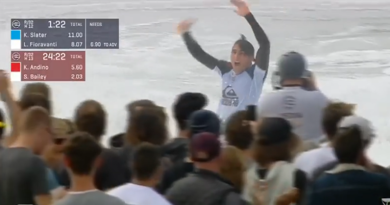 Leo Fioravanti Was Pretty Fired Up When He Beat Kelly Slater at the Quiksilver Pro France