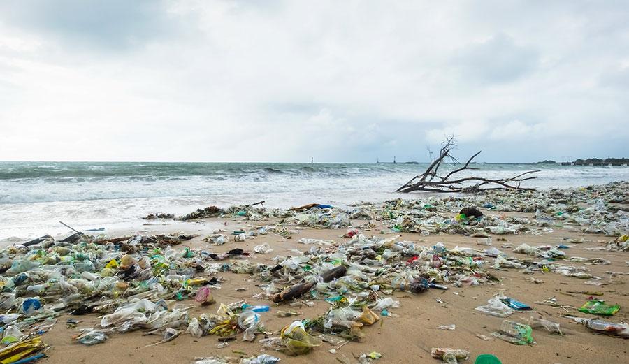 Plastic on Indonesian beach