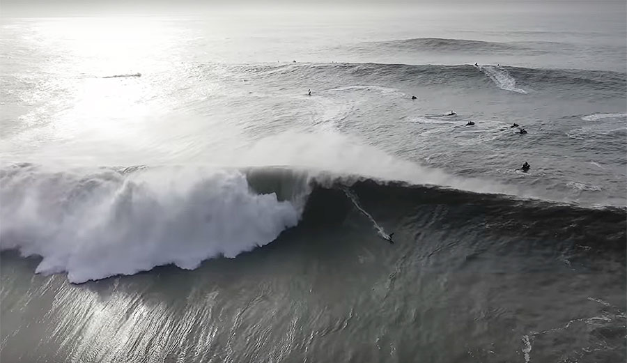This 4K Drone Compilation of Nazaré Waves Is Mindblowing