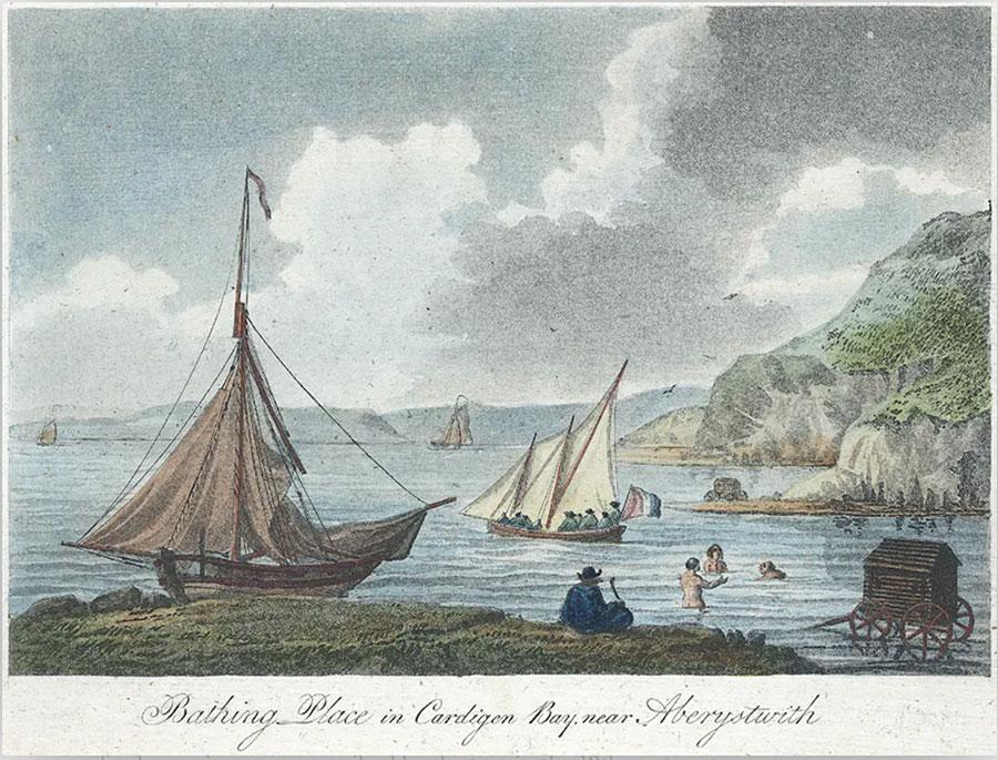 Bathing place in Cardigan Bay, near Aberystwith, circa 1800
