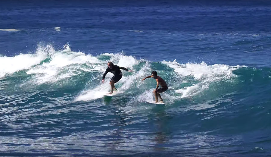 Mason Ho and Ben Gravy Surfed Shark's Cove Together