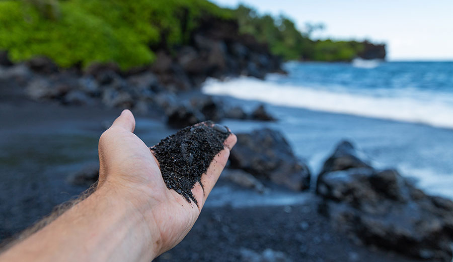 Hawaiian beach sand