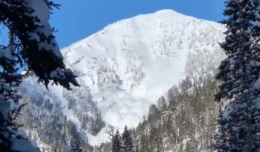 Check Out This Massive Avalanche Caught on Video Near Jackson Hole