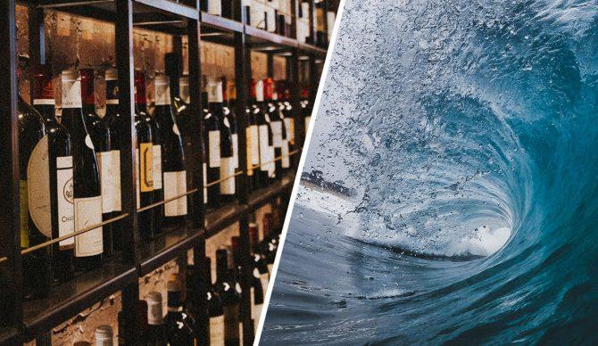 unsplash, waves, wine,