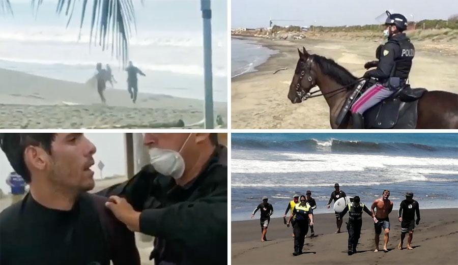 Surfers in trouble coronavirus