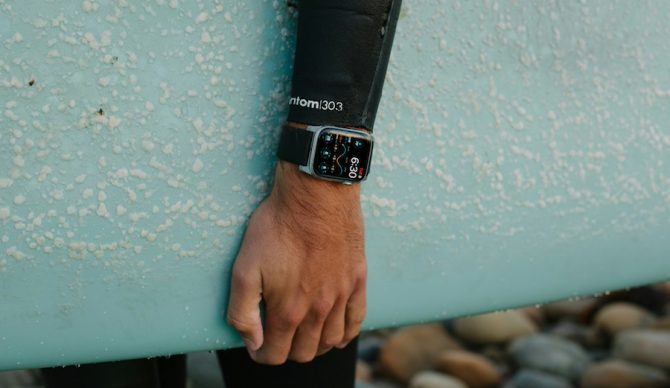 The Dawn Patrol App turns your Apple Watch into a fully-functioning surf watch. Photo: Dawn Patrol
