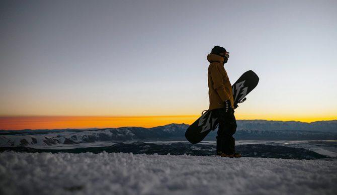 Lonnie Kauk looks out on the Sierra Nevada Mountains