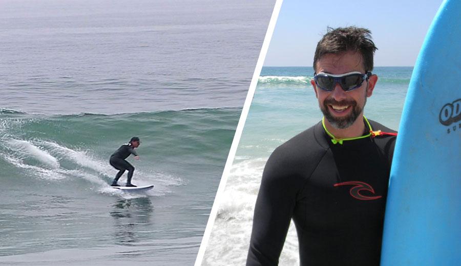 Pete Gustin Blind Surfer