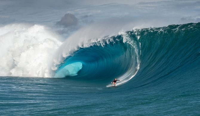 Mark Healey Surfs Teahupoo Huge Wave
