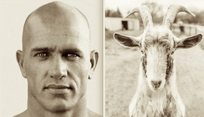 Kelly Slater Is the GOAT; No, He Actually Is a Goat