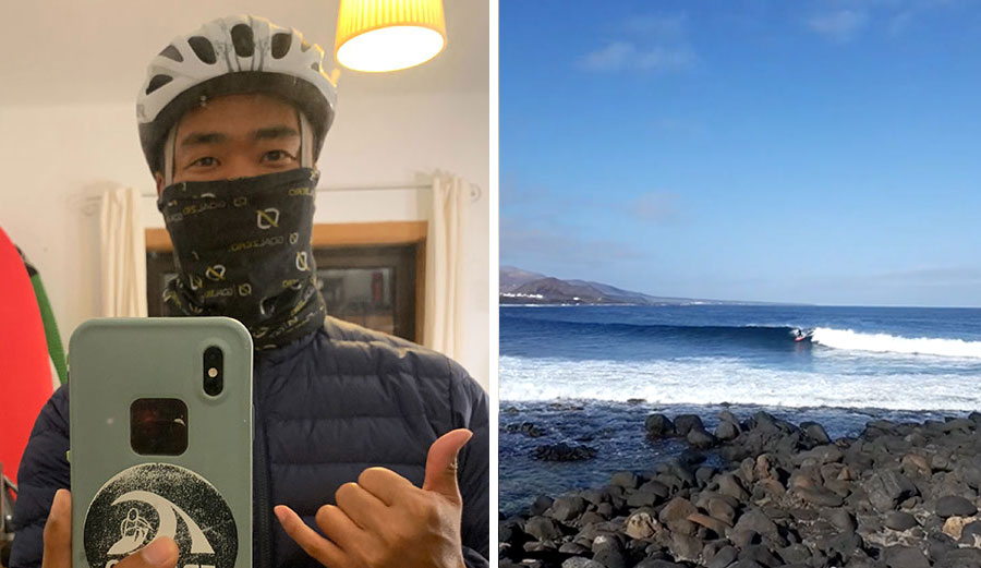 Mark Sawyer-Chu tells the story of what it was like to surf again in the Canary Islands after 7 weeks of lockdown.