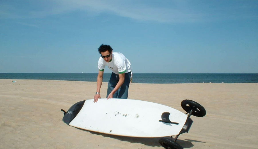Surfboard bike trailer