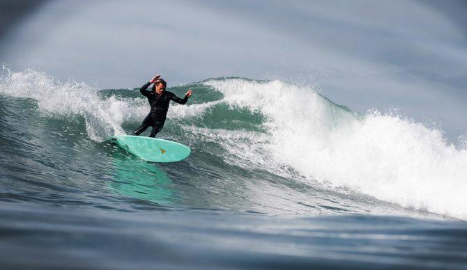 Surfer on Fish Turning