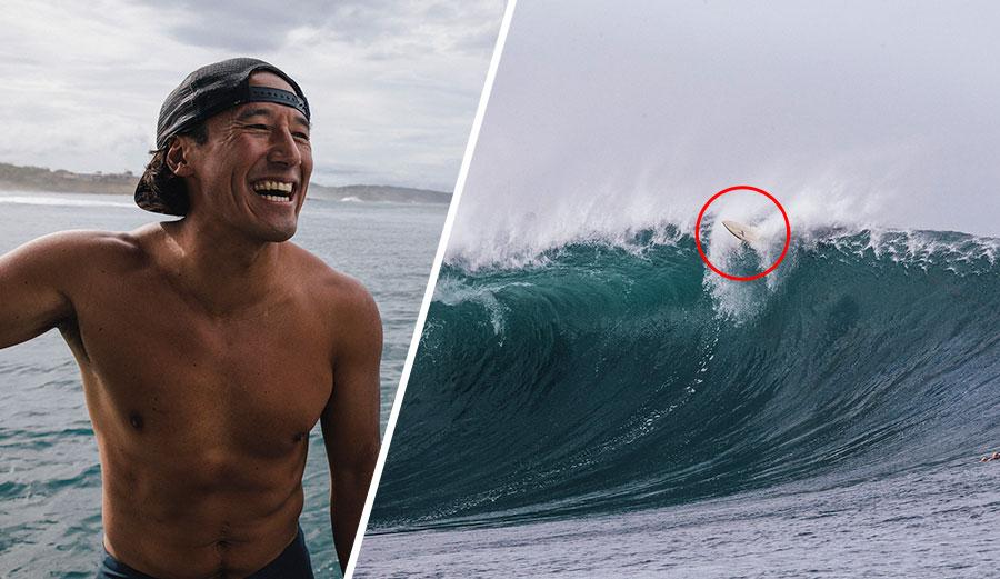 Jimmy Chin surfing